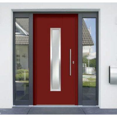 Haustür Aluminium Rot