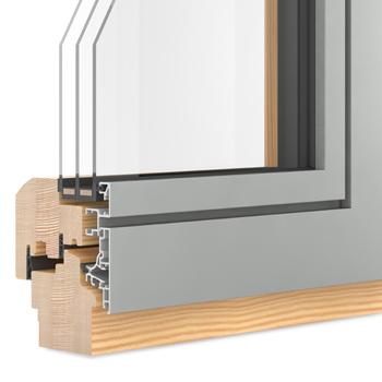 Holzfenster mit Dreifachverglasung
